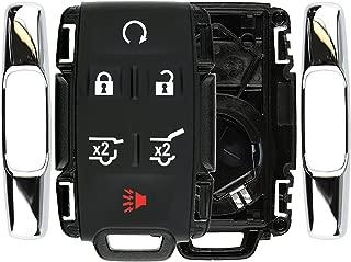 KeylessOption Keyless Remote Car Key Fob Case Shell Button Pad Cover for GMC Chevy M3N-32337100