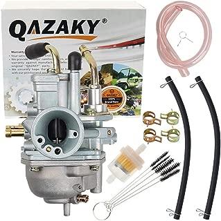 QAZAKY Replacement for Carburetor Kit Polaris Predator Scrambler Sportsman 50 90 E-TON Eton Viper AXL50 RXL50 RXL70 TXL50 Beamer R2 2-Stroke Yamaha Jog 100 90cc 100cc 4DM Manual Cable Choke Style 19mm
