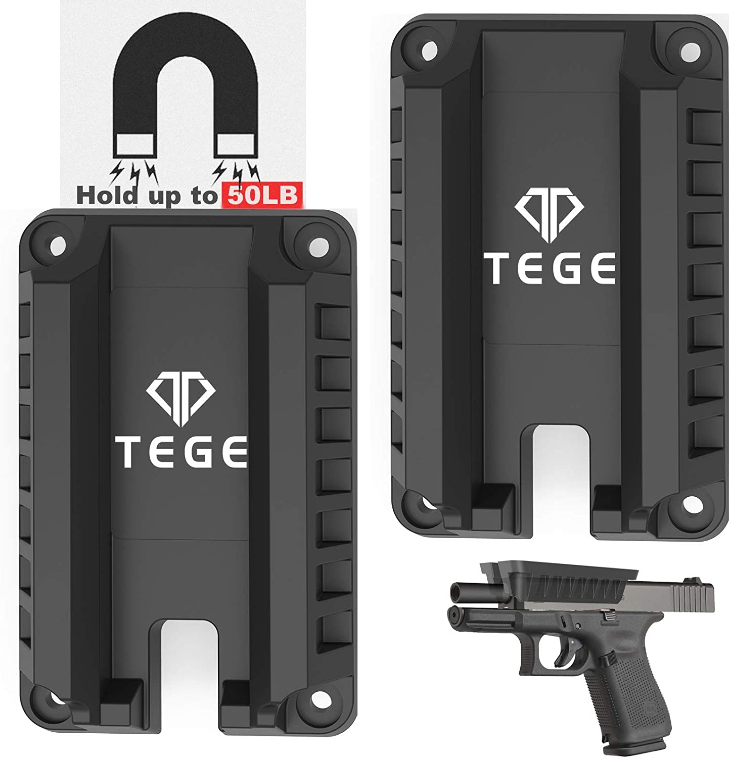 Gun Magnet Mount 55 lbs Rated Holste Loaded Rare Fast Ranking TOP12 Magnetic