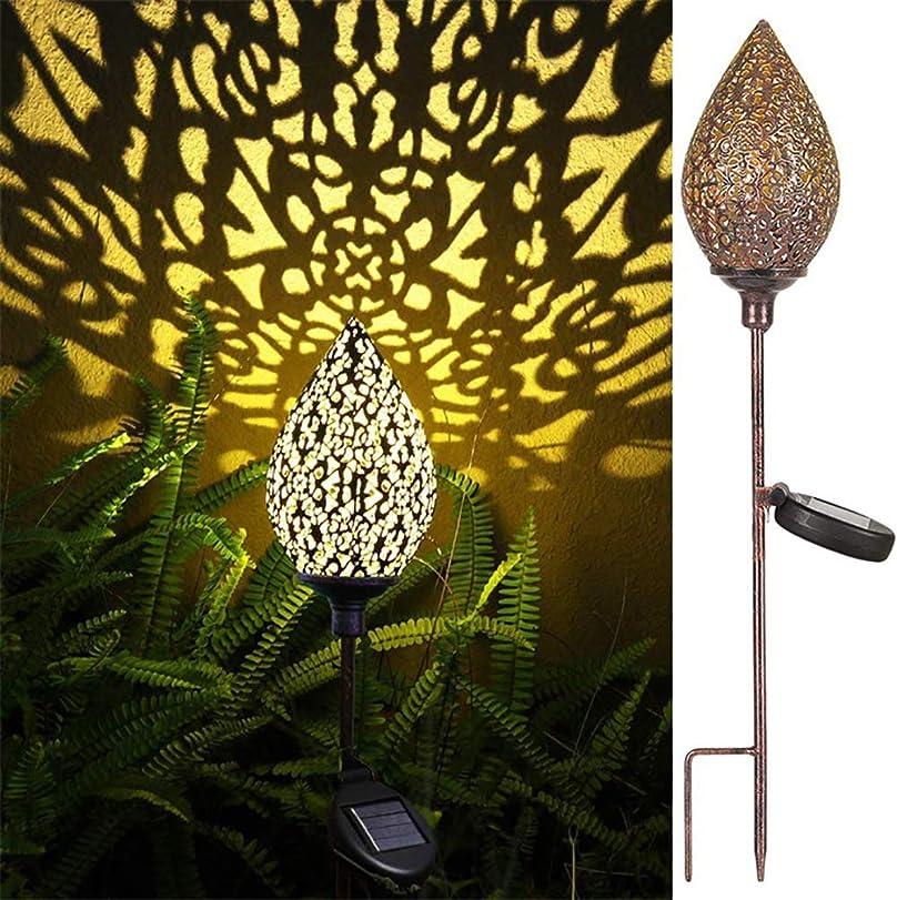 ニックネーム強い上下するドロップ型の中空ソーラーランタン、屋外ガーデンハンギングランタン-防水、太陽光発電のライトアップ、クールな光と影-Ground lamp