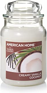 Yankee Candle American Home Scented Candle, 19 oz. - Creamy Vanilla Coconut 1506082