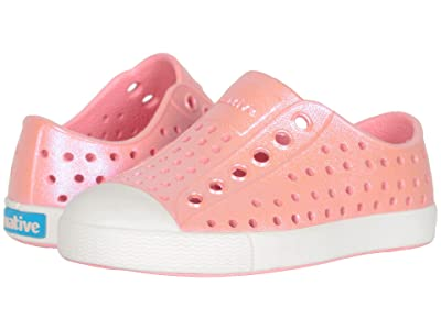 Native Kids Shoes Jefferson Iridescent (Toddler/Little Kid) (Princess Pink/Shell White/Galaxy) Girls Shoes