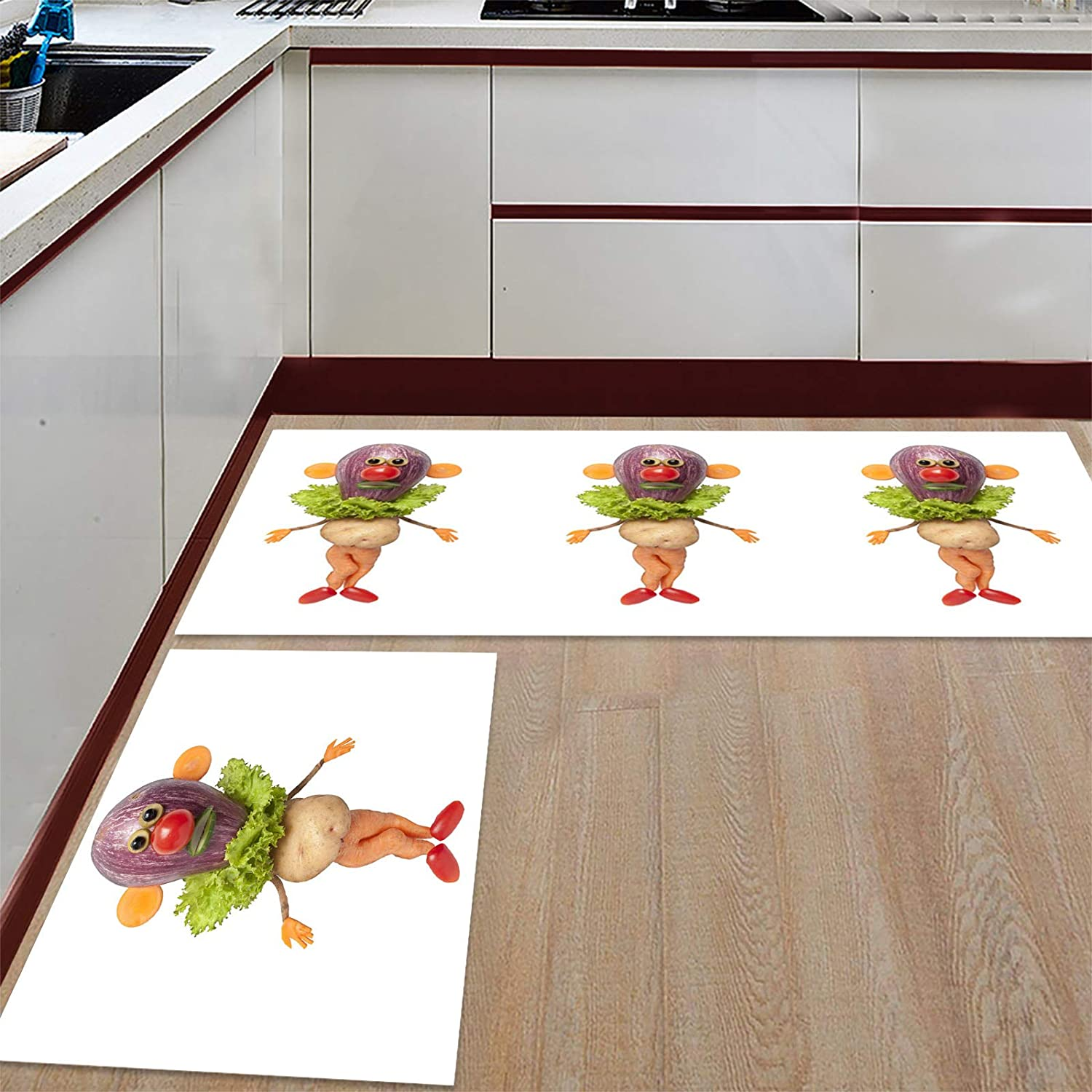 High quality new Advancey 2 Pieces Anti-Slip Kitchen Characters ! Super beauty product restock quality top! Comp Cartoon Mats
