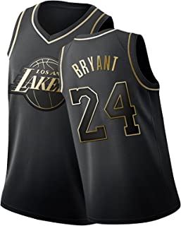 Laker 24# Kobe Bryant Maillot De Basket Homme,Fans Commémorer Broderie Basketball Jersey en Mesh Respirant Et À Séchage Ra...