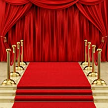 Dudaacvt 10x10ft Red Carpet Backdrop Hollywood Red Carpet Stage Backdrop Wedding Party Events Photography Props Seamless Photo Studio Props D146