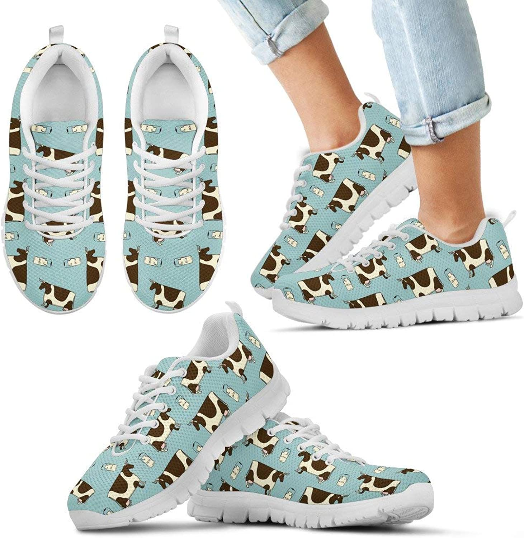 Barn smile Pattern Cute Cows Running Sneaker Lightweight Go Easy Walking Casual Comfort Running shoes for Men & Women & Kid