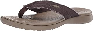 crocs Men's Santa Cruz Canvas M Brown Flip Flops Thong Sandals-6 UK (M7) (205612-22Y-M7)