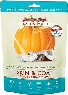 グランマ・ルーシーズ パンプキンパウチ スキン&コート(170g)かぼちゃベースのお野菜サプリ・健康的な被毛を食事からサポート