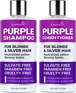 (2-Pack) Purple Shampoo and Conditioner Set for Blonde Hair - Blonde Shampoo for Silver & Violet Tones - Instantly Elimina...
