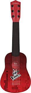 Lexibook Voice My First Guitare, 6 Nylon Strings, 53 cm, Guide Included, K200TV, Red/Black