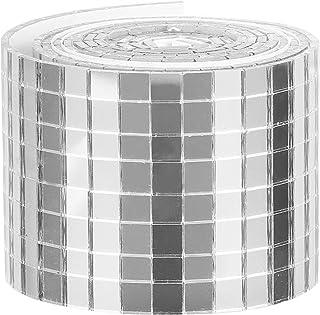 HEALLILY 1 rouleau de carreaux de mosaïque carrés en verre pour miroirs de mosaïque - Autocollants muraux - Pour bricolage...