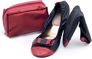 comprar comparacion CatMotion Zapatos cómodos plegables en su bolso, Bailarinas para damas, Bombas para después de la fiesta, Zapatos plegable...