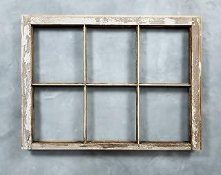 Old Shabby Chic 6 pane Antique Vintage Window Frame. Mantel Wreath Display
