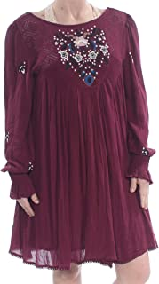 Free People Womens Mohave Embroidered Daytime Mini Dress