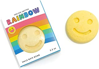 Feeling Smitten Rainbow Fizzy Bath Bomb, (Happy Face) Colorful Scented Bubbling Bathbomb, Kid Safe Bath Fizzies, Gift for ...