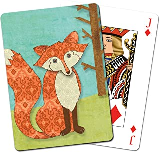 Tree-Free Greetings Deck of Playing Cards, 2.5 x 0.8 x 3.5 Inches, Whimsical Fox  (CD15135)