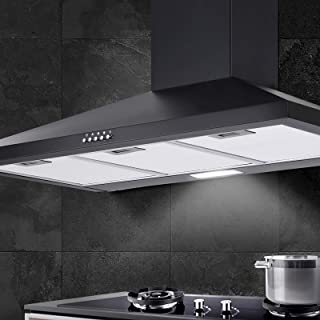 Devanti Range Hood 90cm 900mm Kitchen Canopy Stainless Steel Rangehood Wall Mount