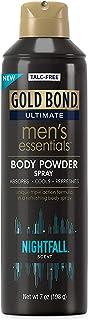 اسپری پودر بدن بدون تالک مردانه Essentials Gold Bond 7 اونس محافظت از رطوبت و بوی شبانه