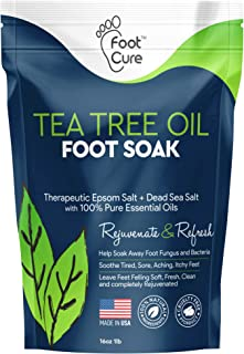 Foot Cure Tea Tree Oil Foot SOAK with EPSOM Salt - Extra Strength Formula - for Toenail Fungus, Athletes Fo...