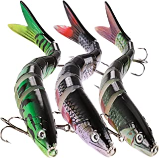 Bass Lures Fishing Lures for Bass Trout Multi Jointed Swimbaits Slow Sinking Trout Lures for Freshwater Saltwater Lifelike...