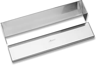Ateco Stainless Steel Cone Shaped Bottom Terrine Mould with Cover, 11.75- by 5.7cm