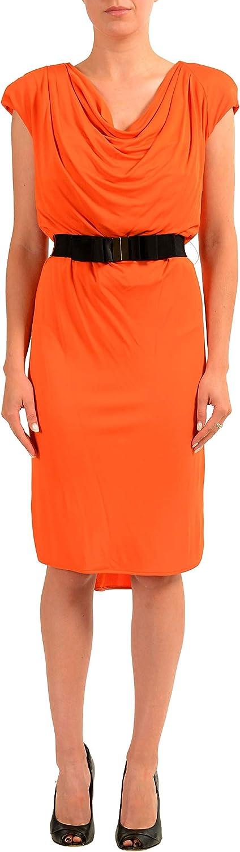 Viktor & Rolf Orange Sleeveless Women's Sheath Dress US XS IT 38
