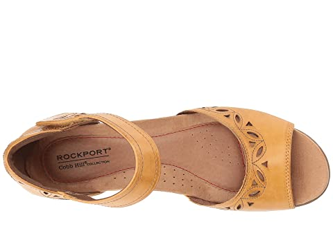 Rockport Cobb Ankle Collection LeatherTan Abbott Two Piece Leather Strap Hill Black Hill Cobb LeatherYellow rqAx8Zr