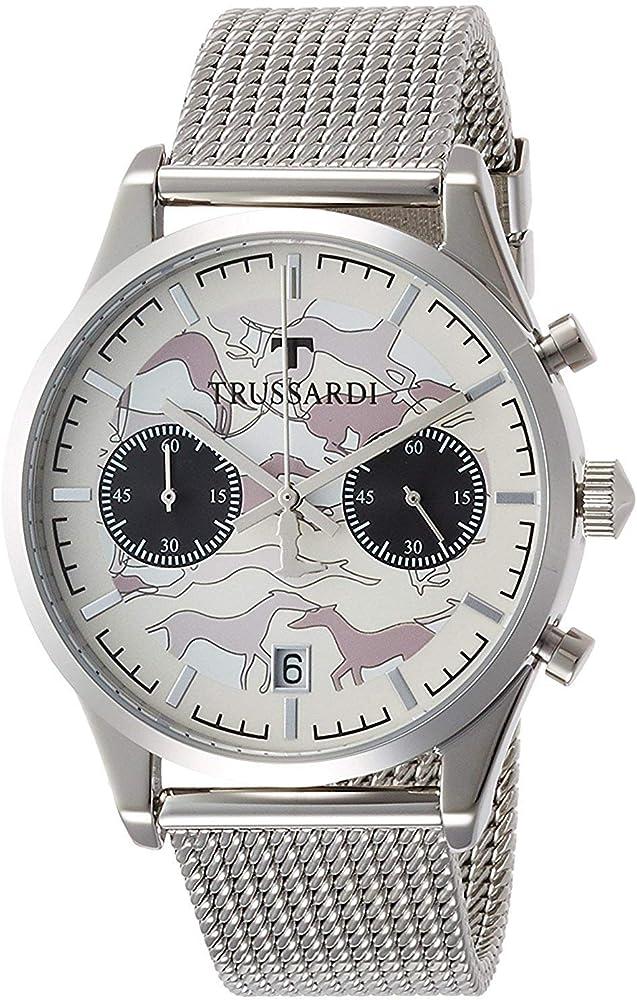 Trussardi,orologio,cronografo per uomo,in acciaio inossidabile R2473613002
