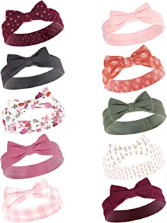 Hudson Baby Unisex Baby Cotton and Synthetic Headbands, Fall Floral, 0-24 Months