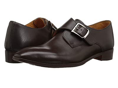 CARLOS by Carlos Santana Freedom Monk Single Strap (Brown Full Grain Calfskin) Men