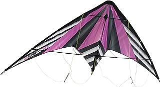 WindNSun Ez Sport 70 Polyester Ripstop Stripe Dual Control Sport Kite, Purple