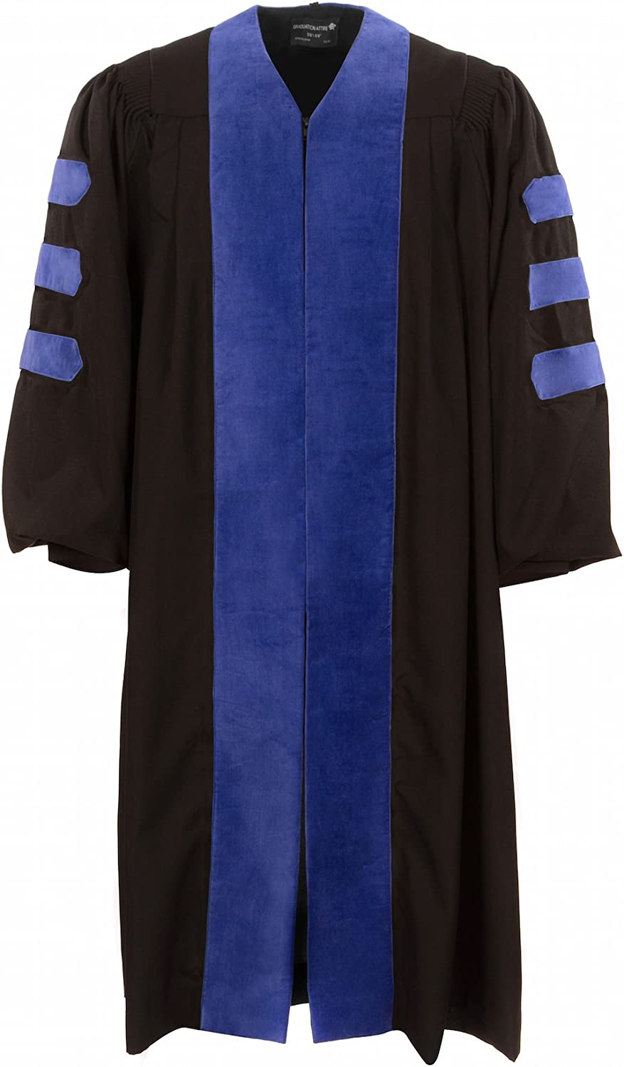 Selling rankings American Doctoral Gown Black with Royal Pipi Attention brand Velvet and no Blue