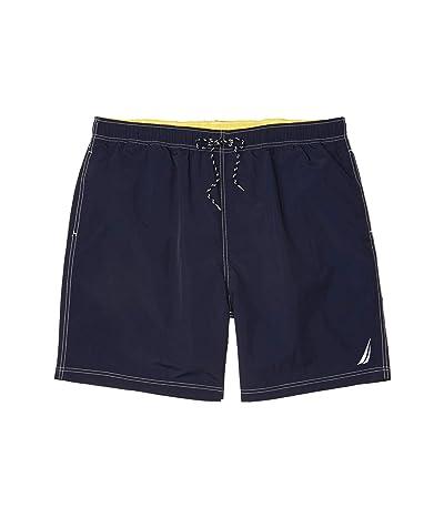 Nautica Big & Tall Big Tall Solid Swimwear (Blue 2) Men