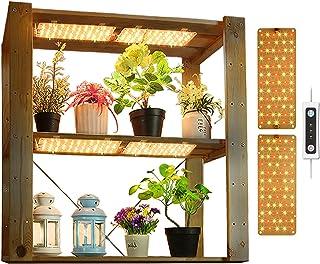 APLANT Grow Panel Light LED , 20 watage Full Spectrum Panel Grow Lamp با عملکرد تایمر روشن / خاموش اتوماتیک ، چراغ کم کارایی و 132 LED ، مناسب برای گیاهان داخل سالن oor باغ علف