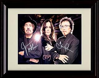 Framed Black Sabbath Autograph Replica Print