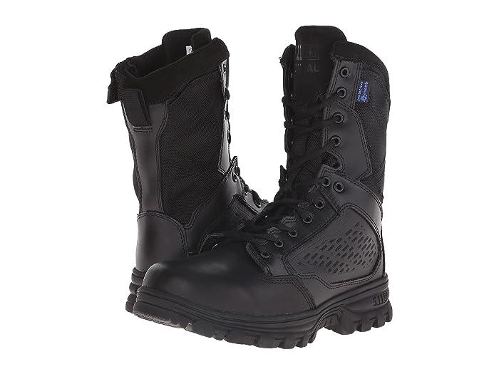 5.11 Tactical  Evo 8 Waterproof with Side Zip (Black) Mens Work Boots