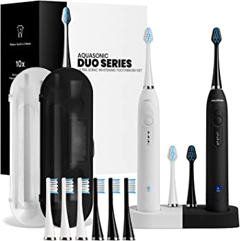 AquaSonic DUO Dual Handle Ultra Wireless Charging Electric ToothBrushes