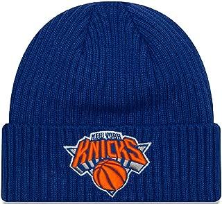 New Era Unisex Core Classic Knit New York Knicks Beanie, Adult, Blue, OS