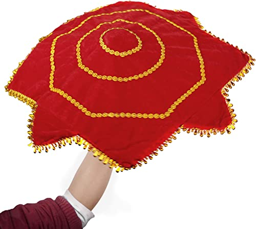 popular PP-NEST new arrival 2X Dance Handkerchief Octagonal Towel Red Flower Art outlet online sale Decor WDSJ-01 online sale