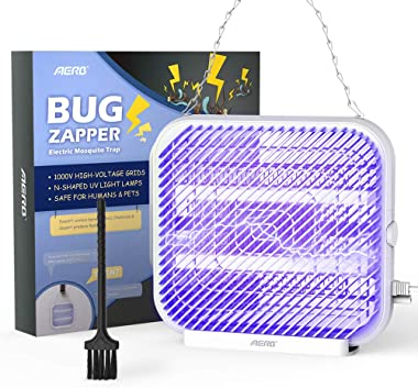 Aerb Bug Zapper, Indoor Bug Zapper for Home, Mosquito Zapper, Fly Zapperr, Indoor Bug Zapper, Mosquito Lamp,Electronic Bug Zapper for Indoor(800sq.ft 5/8W