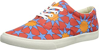 Bucketfeet Persia Canvas Lace-Up WNS 7 Red Orange