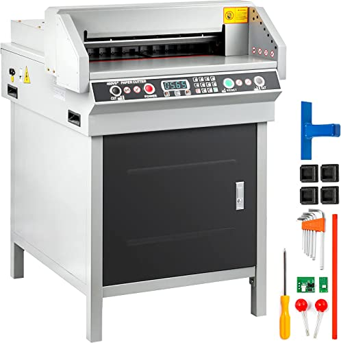 new arrival Mophorn Electric Paper 2021 2021 Cutter 450mm 17.7 Inch Paper Cutter Guillotine Numerical Control Automatic Digital online sale