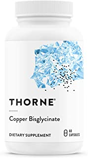 Thorne Research - Copper Bisglycinate - Well-Absorbed Trace Mineral Supplement - 60 Capsules