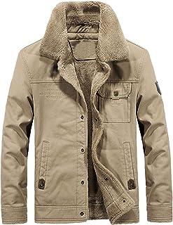 YANGYI Cappotto invernale da uomo Softshell collo con risvolto per giacca morbida antivento