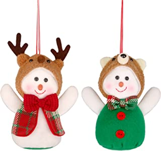 YING LING Christmas Decoration,Plush Snowman Ornament,Decoration Gifts