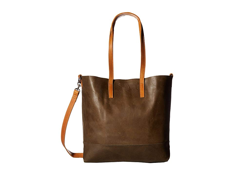 Image of ABLE Abera Crossbody (Olive/Cognac) Cross Body Handbags