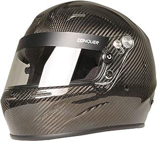 Conquer Carbon Fiber Full Face Auto Racing Helmet Snell SA2015