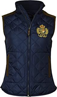 Polo Ralph Lauren Women's Leather Trimmed Quilted Crest Logo Vest