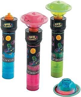 Fun Express - Candy Ufo Spinner Flashing Toy - Edibles - Sucker & Pop - Misc Sucker & Pop - 12 Pieces