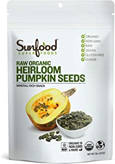 Sunfood Superfoods Raw Organic Pumpkin Seeds - Nutritional Powerhouse Snack - Austria Grown, Heirloom Variety Prized for G...